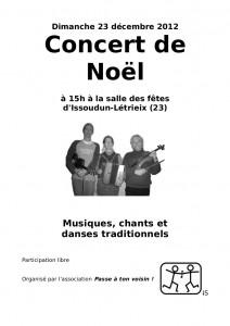 Affiche 23 décembre 2012